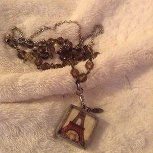 Jewel Kade charm with double chain.